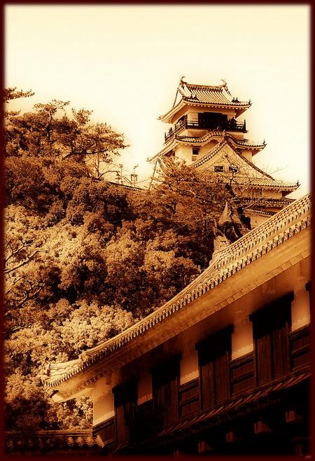 Kochi castle-004-sepia