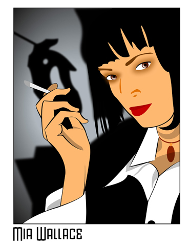 Mia wallace one of my favorite characters from one of my favorite
