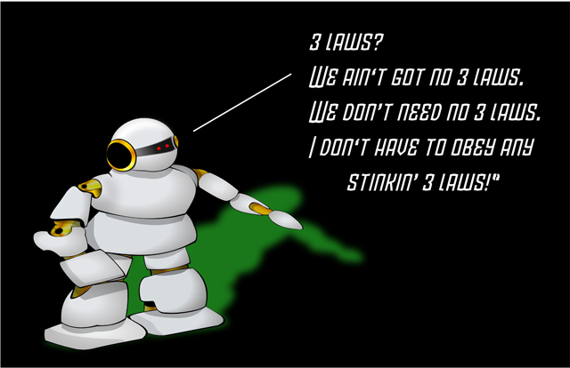 Asimov's 3 Laws of Robotics