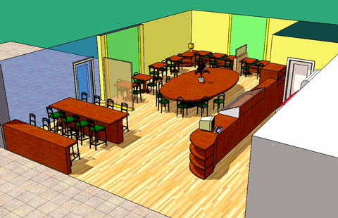 Coffee house layouts